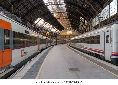 Picture of the France train station (Estació de França) of Barcelona, Spain. 25-2-2021