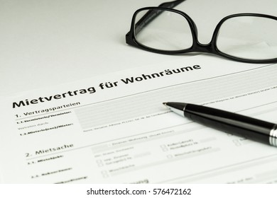 Picture of a german rental agreement