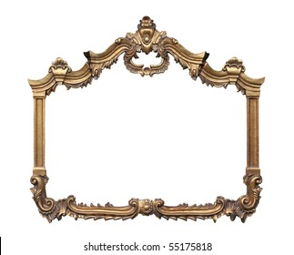 Picture gold frame with a decorative pattern.