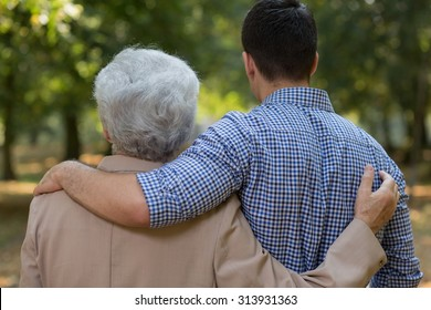 Picture of good relation between grandson and grandfather