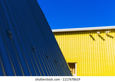 picture of a graphic detail of corrugated iron architecture
