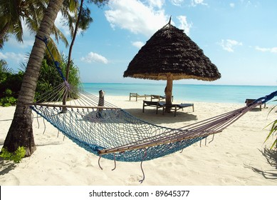 Picture of a hammock in a heavenly resort