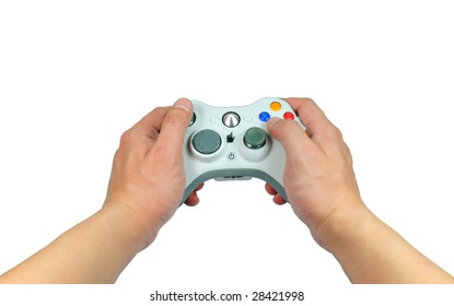 picture of hand with game-stick.