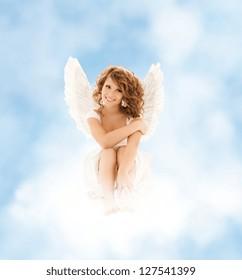 picture of happy teenage angel girl