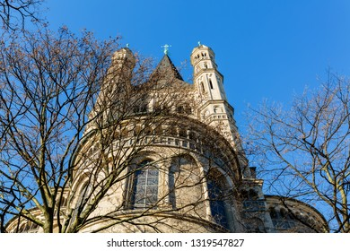 picture of the historical church Gross St Martin in Cologne, Germany