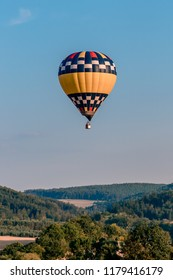 Picture of hot air balloons festival in Bouzov.