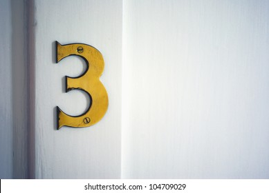 Picture of a hotel room number plate