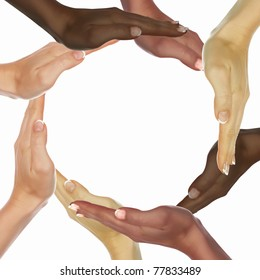 picture of human hands of persons of different races