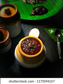 Picture of Inji curry. An integral part of Kerala Sadhya Recipe. Inji (ginger) curry is a flavourful side dish perfectly balancing sweetness and sourness.