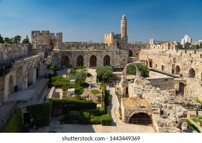 A picture of the interior of the Tower of David.