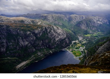 A picture from Kjerag hike near Lysebotn, Norway
