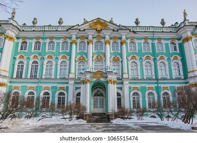 A picture of the lateral facade of the Hermitage.