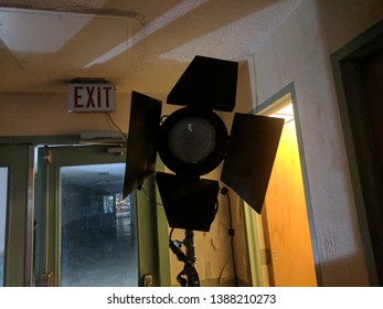 A picture of a light I took while filming a horror movie.