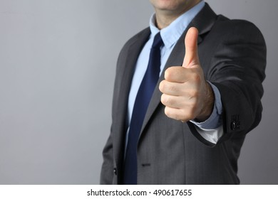 Picture of man hands showing ok sign .