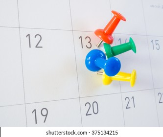 picture of many pin that is stitch on same day in calendar