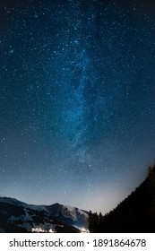 Picture of the milky way with view into the simmen valley