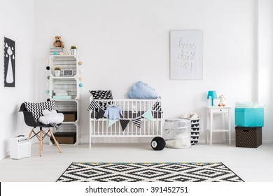 Picture of a modern baby room