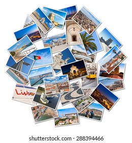 Picture Mosaic collage of  Lisbon city in Portugal