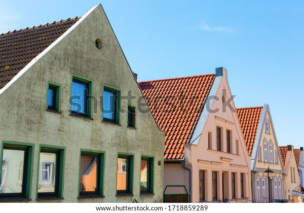 picture of old row houses in Bergen auf Ruegen, Germany