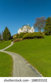 Picture of the old royal palace in Bergen, gamlehaugen