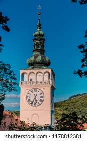 Picture of old tower of town hall at Mikulov.