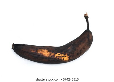 A picture of an ordinary overripened banana. It looks ugly, but still can be sweet and good to eat.