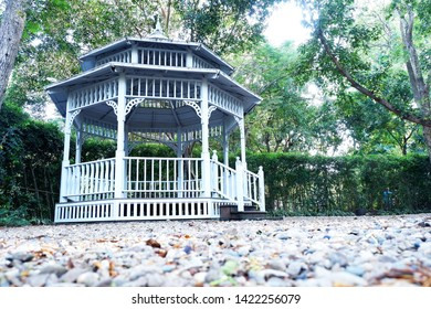 Picture of patio beautiful balcony vintage designed style decorative comfortably to luxury terrace gazebo - copy space image