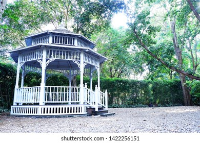 Picture of patio beautiful balcony vintage designed style decorative comfortably to luxury terrace gazebo copy space - picture left image
