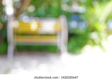 Picture of Patio: beautiful blurred rocking chair background with unfocused bokeh bight light for artwork
