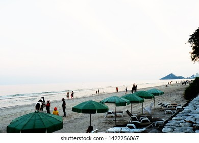 Picture of patio sea view sand beach beautiful gazebo seaside view - copy space image