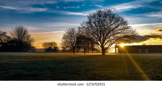 A picture perfect sunset captured from beeston side of Nottingham UK