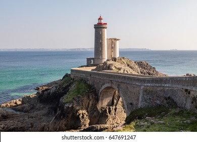 """picture of """"Phare du Petit Minou"""" on a wonderful cloudless day. afternoon situation of light a few hours before the sunset - HDR High dynamic range imaging"""