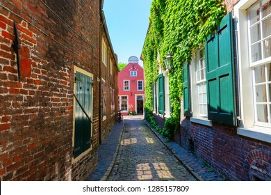 picture of a picturesque alley in Leer, Ostfriesland, Germany