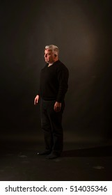 picture of a portrait of an adult man in the studio