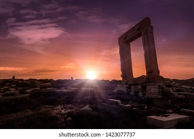 Picture with powerful colour of Lygdamis, tyrant of Naxos, island in Cyclades arcipelago