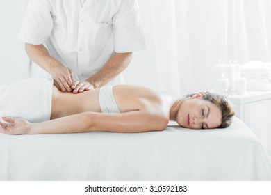 Picture of professional health massage treatment in spa salon