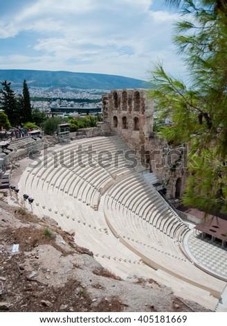 picture rebuilt ancient greek theatre athens stock photo edit now