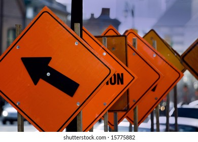 picture of the road work signs