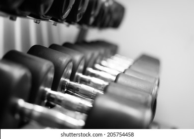Picture of a row of dumbells
