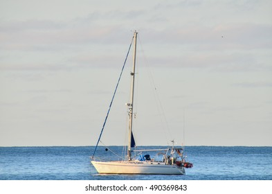 Picture of a Sail Boat in the Ocean