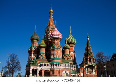 picture of san basil in red square one of the most important monument of moskow russia