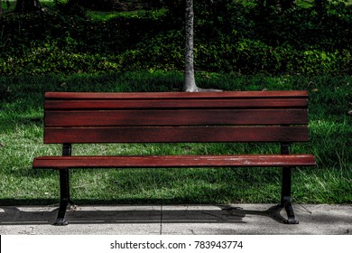 Picture of a seat in a park
