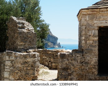 The picture shows a beauty of the Balkans - castle in Porto Palermo.