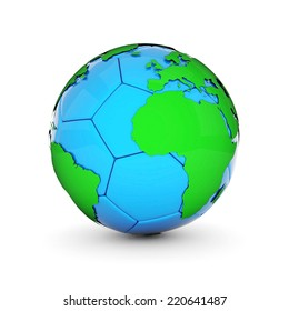 Soccer ball world map stock vector 2018 377517400 shutterstock picture a soccer ball on white background gumiabroncs Images