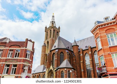 picture of the St Christopher's Cathedral seen from the market square in Roermond, Netherlands