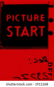 Picture start frame of 35 mm motion film