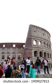 Picture taken on 31st. January 2021 at 15:46 pm. from a famous park in Kolkata India. Photo shows a model of Colosseum in Roam as the sights of the park.