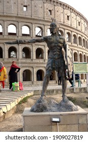Picture taken on 31st. January 2021 at 15:40 pm. from a famous park in Kolkata India. Photo shows a model of Colosseum in Roam as the sights of the park.