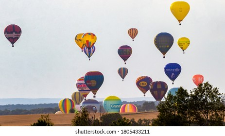 Picture taken in Chambley-Bussières on July 31th 2019. The mondial air balloon air show