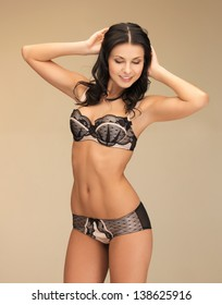 picture of tempting brunette in sexy lingerie